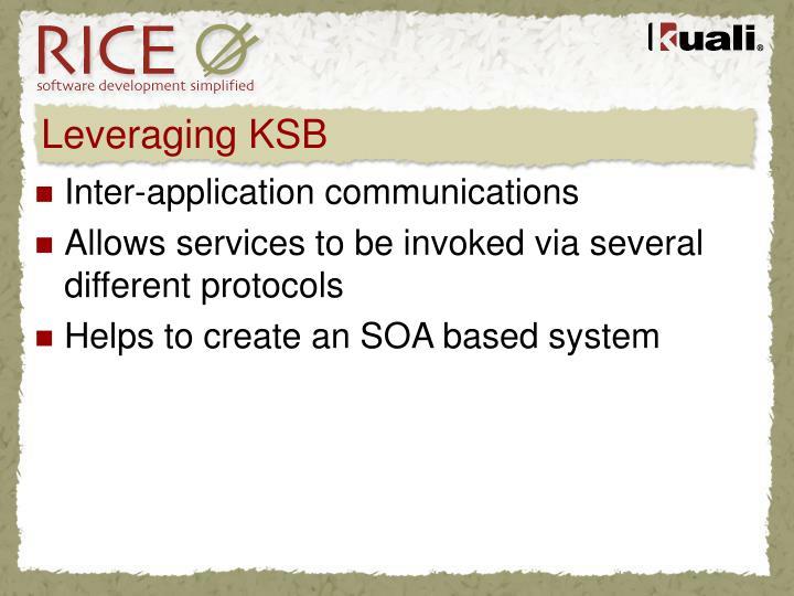 Leveraging KSB