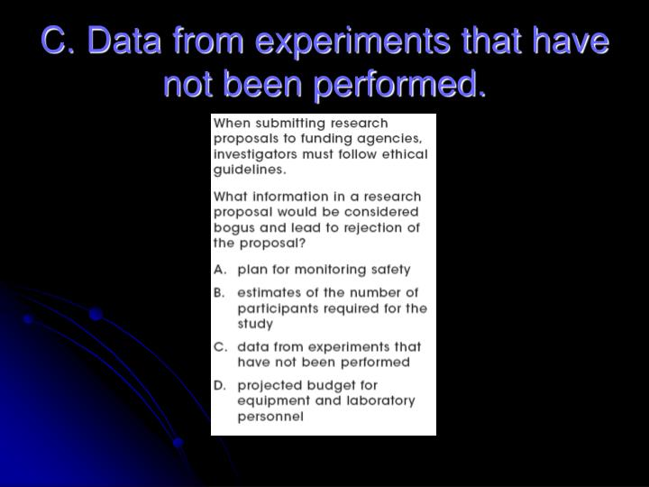 C. Data from experiments that have not been performed.