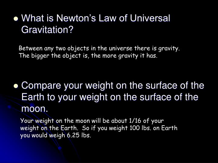 What is Newton's Law of Universal Gravitation?
