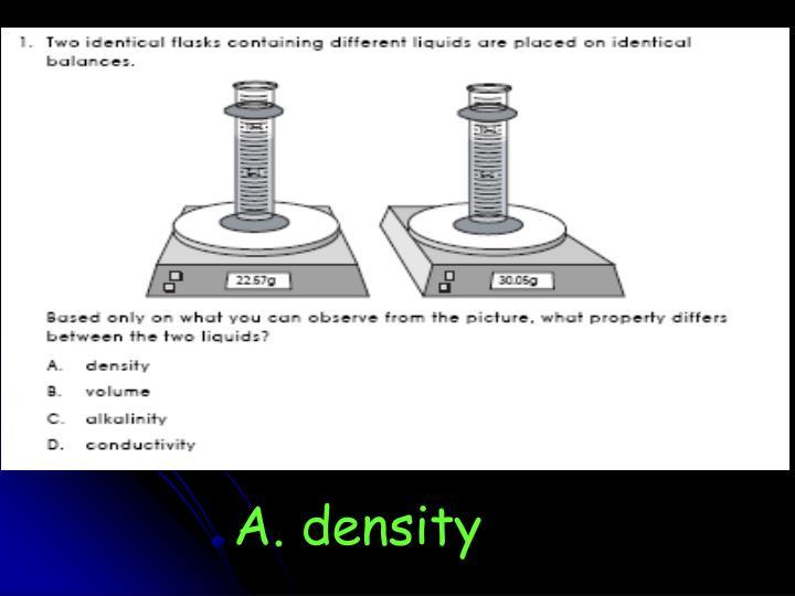 A. density