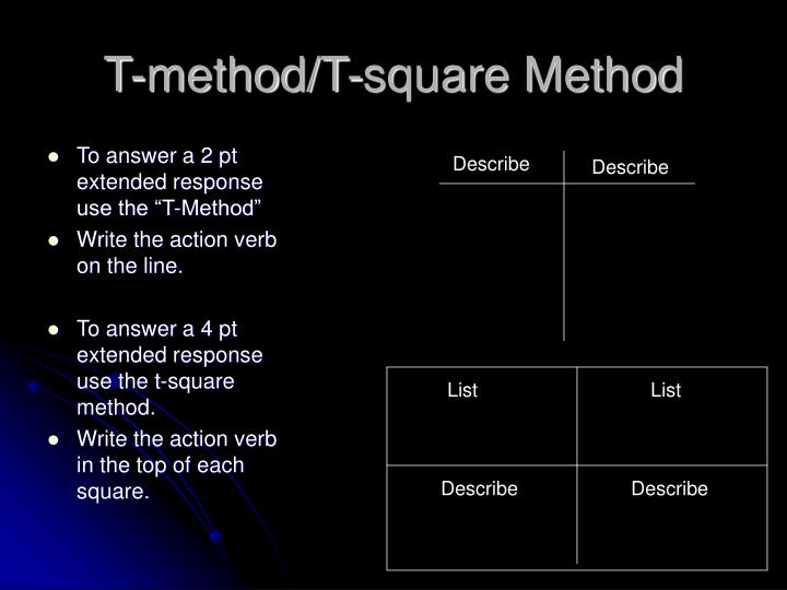 T method t square method