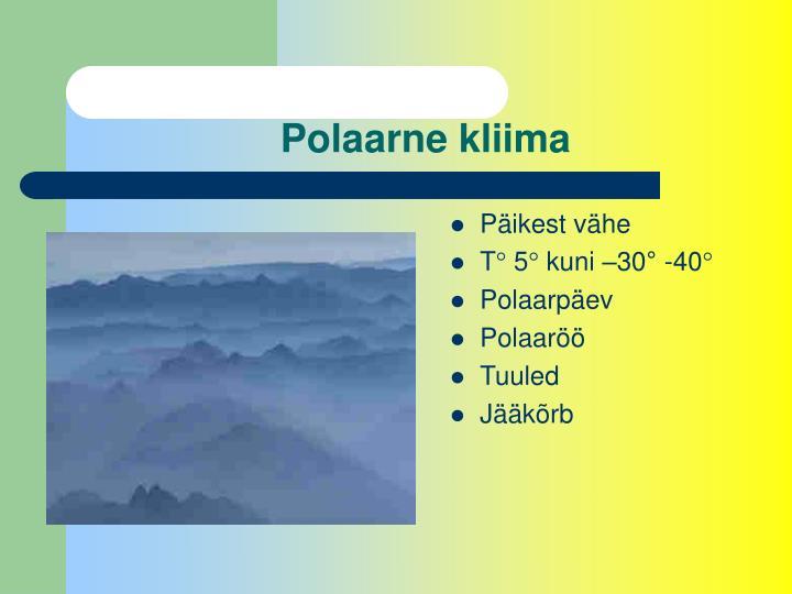 Polaarne kliima
