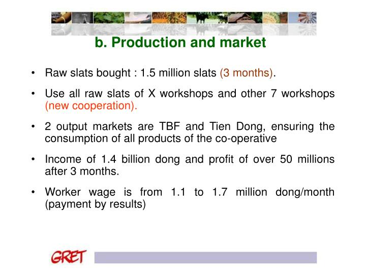 b. Production and market