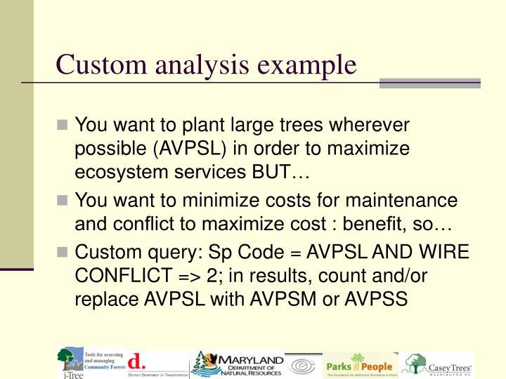 Custom analysis example