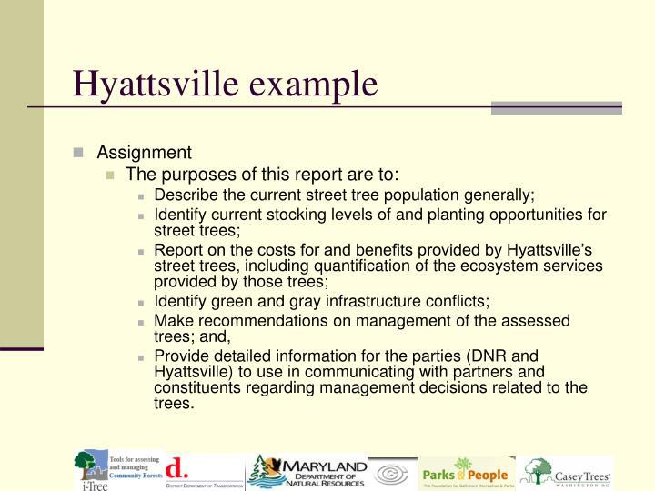 Hyattsville example