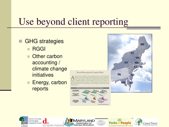Use beyond client reporting