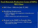 feed materials production center fmpc sec class