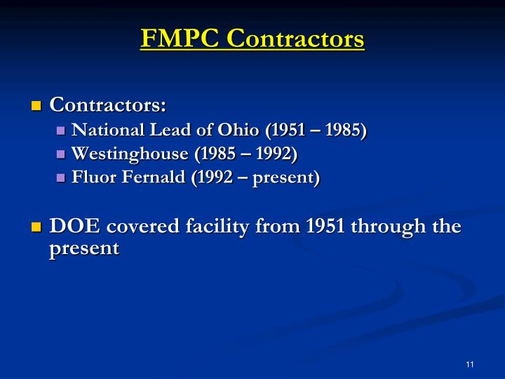 FMPC Contractors