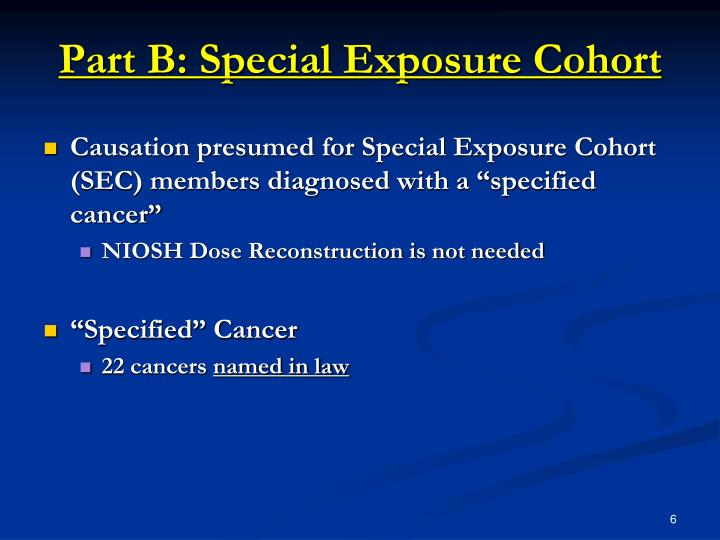 Part B: Special Exposure Cohort