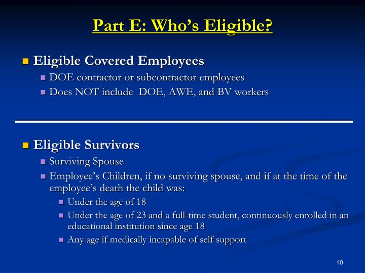 Eligible Covered Employees