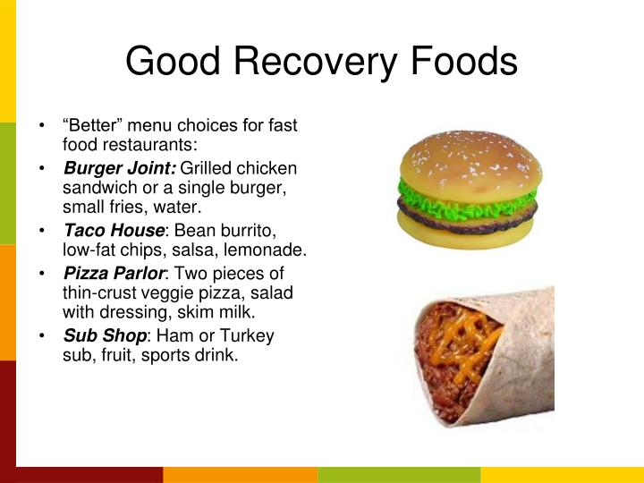 Good Recovery Foods
