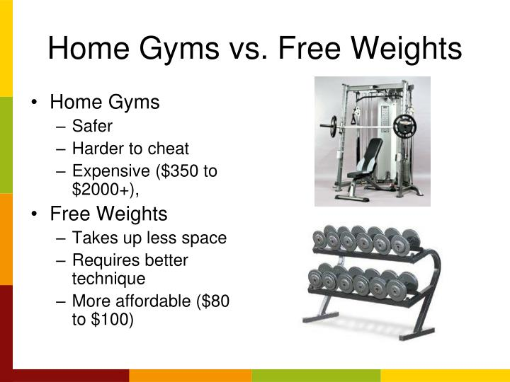 Home Gyms vs. Free Weights