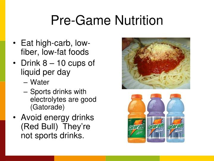 Pre-Game Nutrition