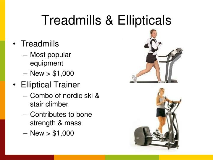 Treadmills & Ellipticals
