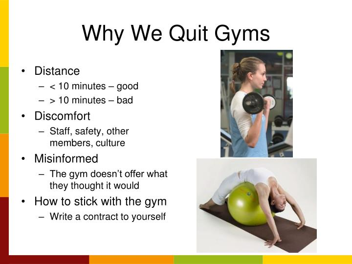Why We Quit Gyms