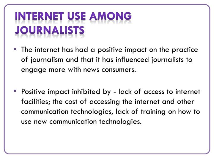 Internet use among journalists