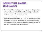 internet use among journalists