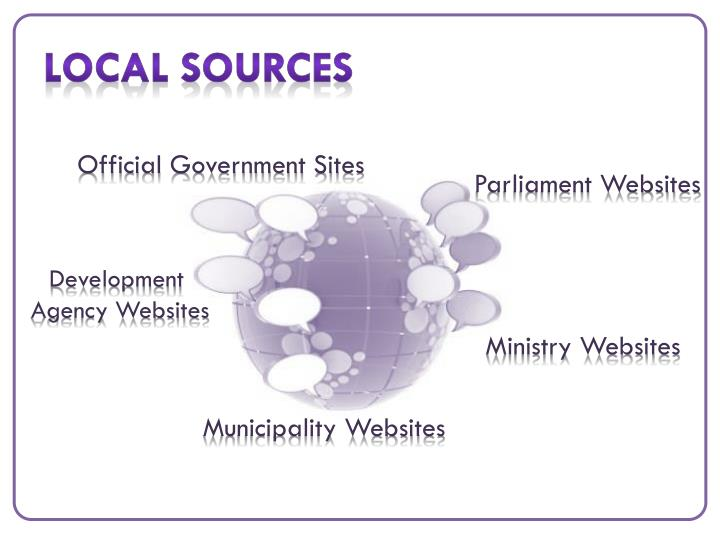 Local Sources