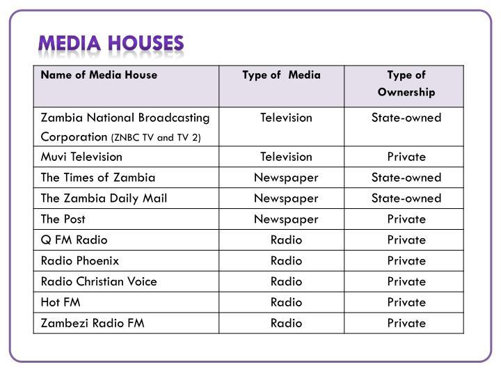 Media Houses
