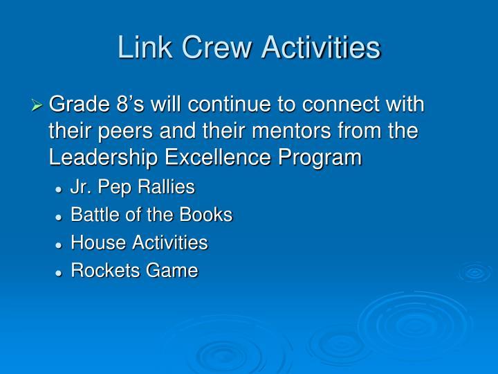 Link Crew Activities