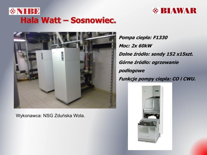 Hala Watt – Sosnowiec.