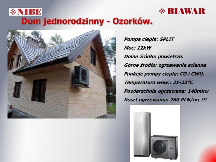 Dom jednorodzinny - Ozorków.