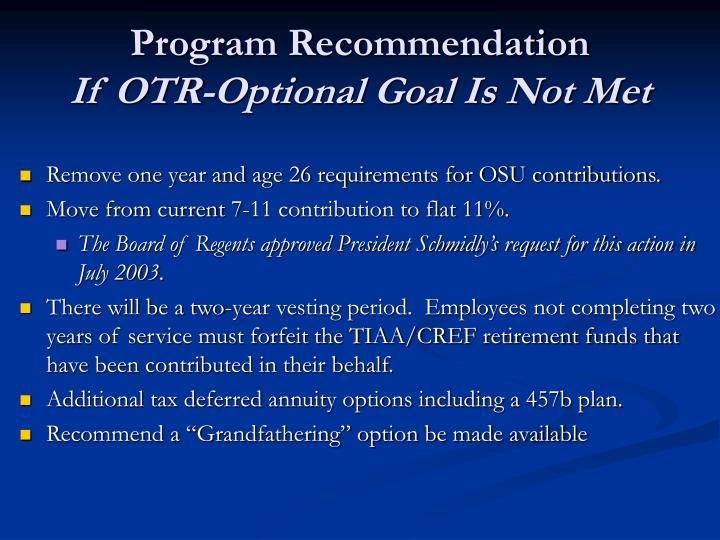 Program Recommendation