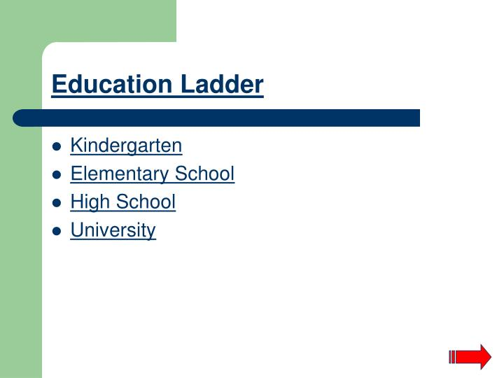 Education Ladder