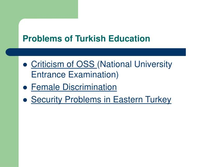 Problems of Turkish Education