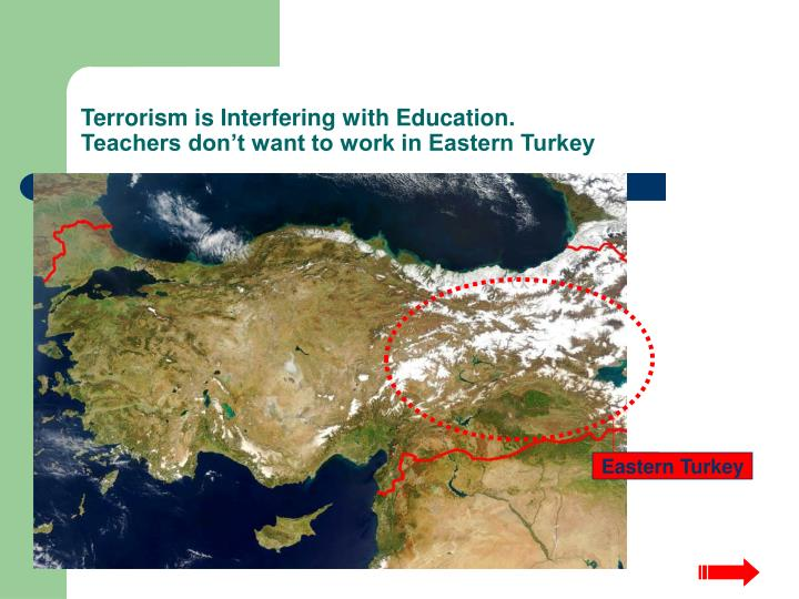 Terrorism is Interfering with Education.