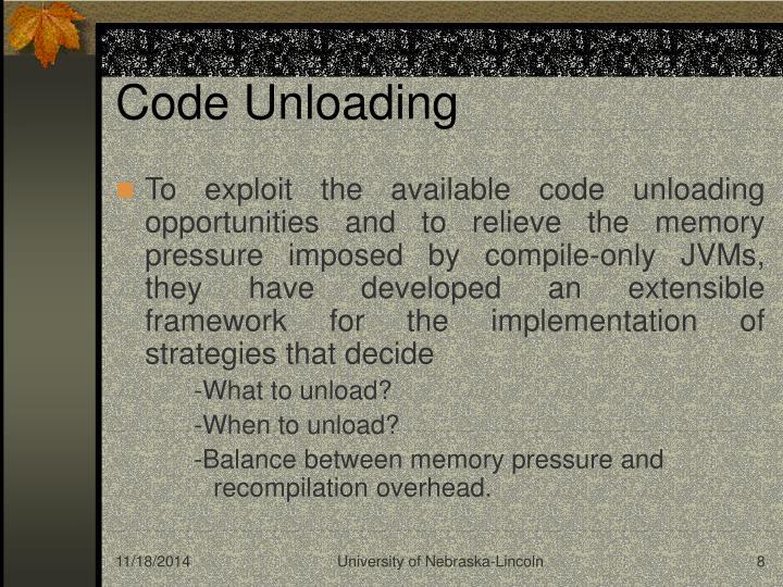Code Unloading