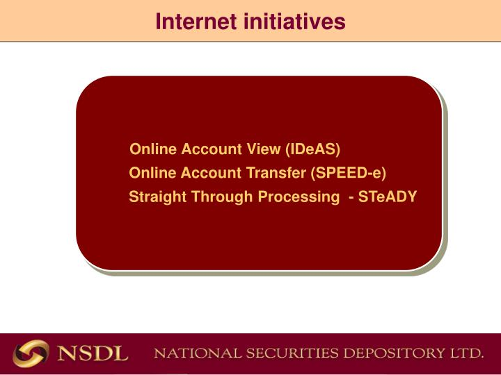 Internet initiatives