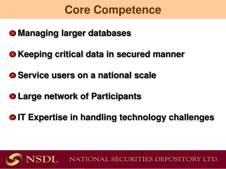 Managing larger databases