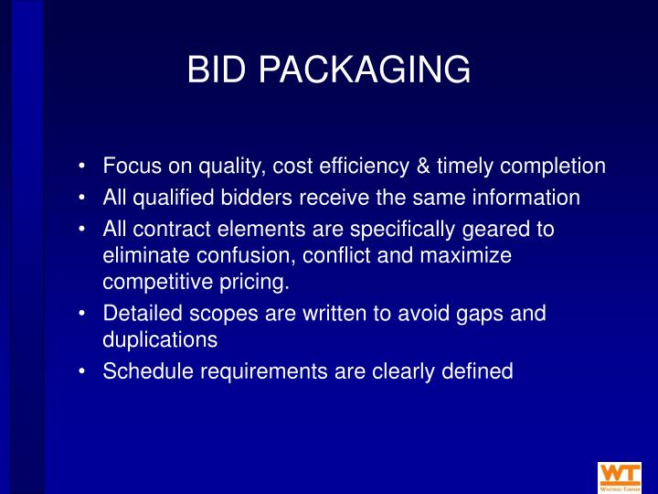 BID PACKAGING