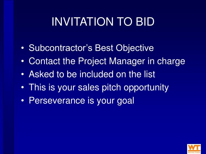 INVITATION TO BID