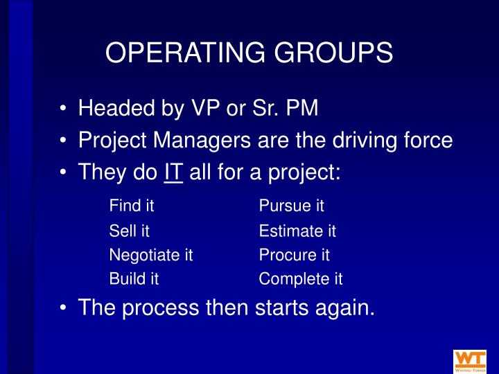OPERATING GROUPS