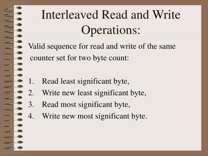 Interleaved Read and Write Operations: