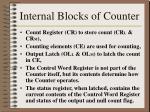 internal blocks of counter