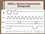 mode 5 hardware triggered strobe retriggerable