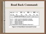 read back command