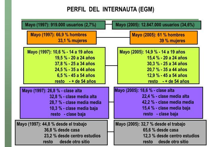 PERFIL  DEL  INTERNAUTA (EGM)