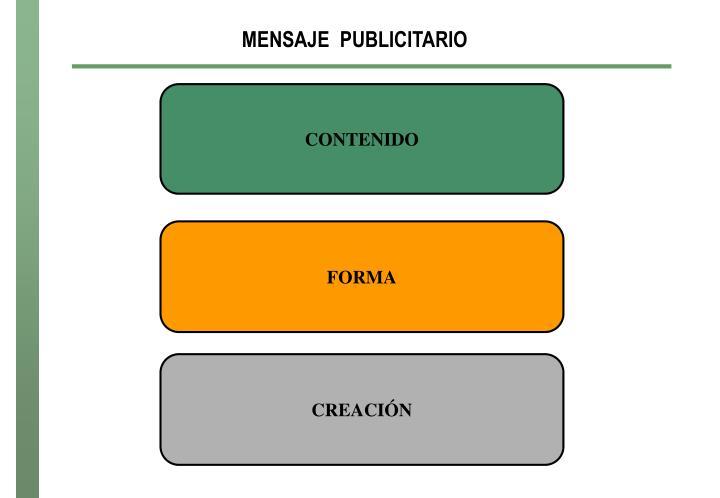 MENSAJE  PUBLICITARIO