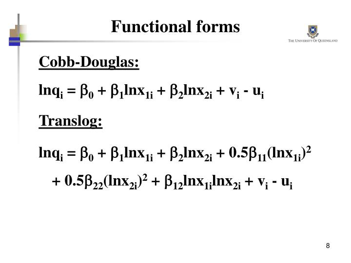 Functional forms