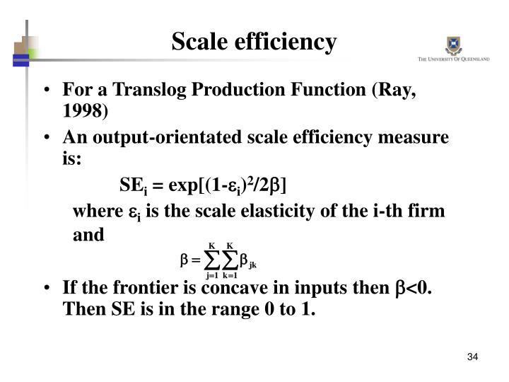 Scale efficiency