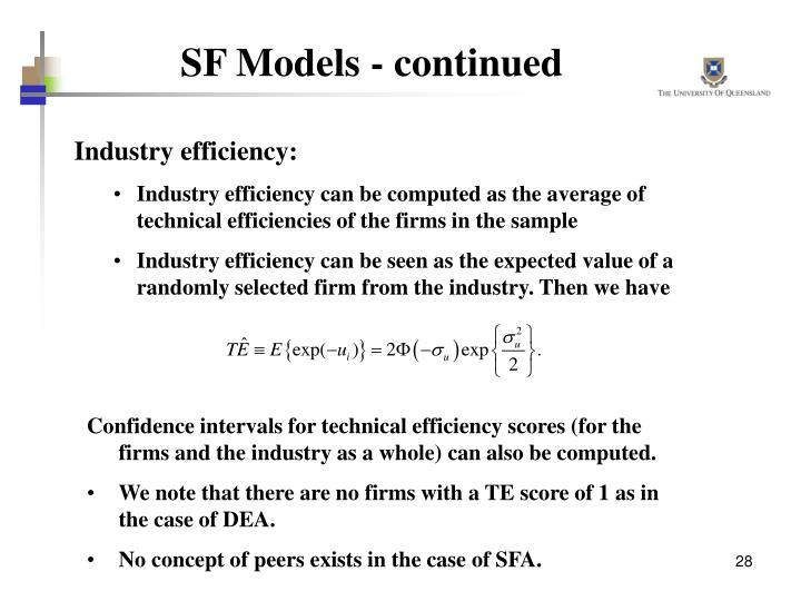 SF Models - continued