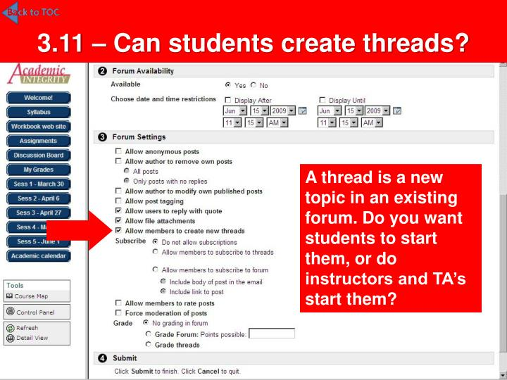 3.11 – Can students create threads?