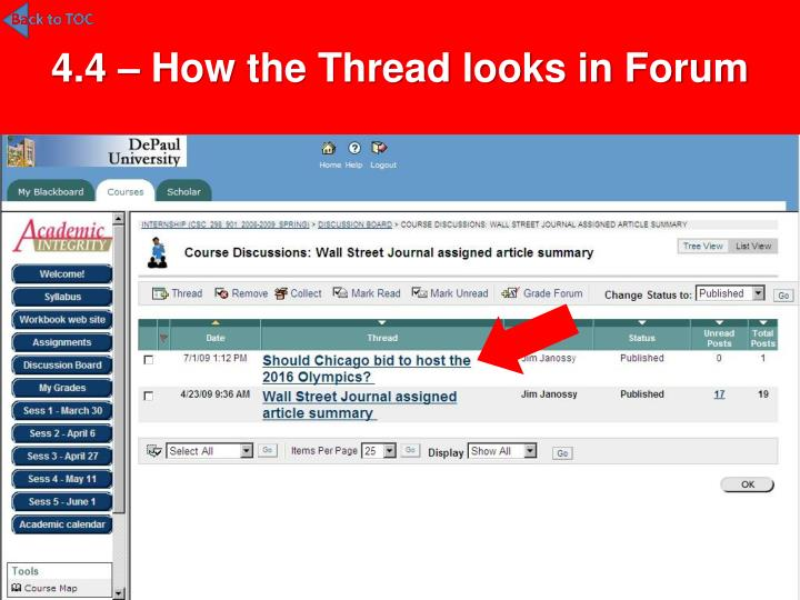 4.4 – How the Thread looks in Forum