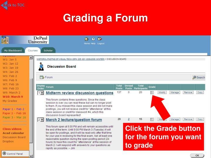 Grading a Forum