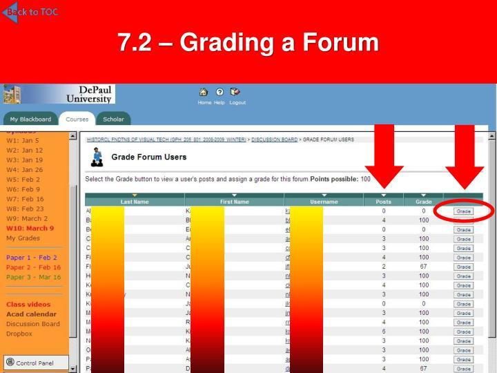 7.2 – Grading a Forum