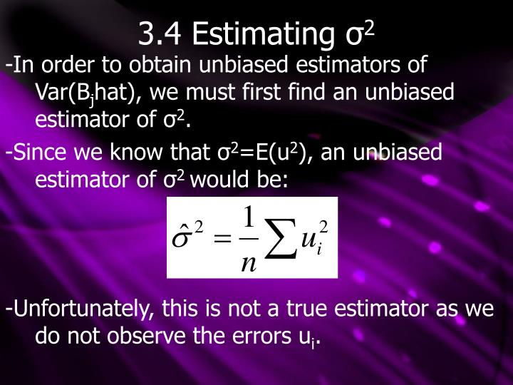 3.4 Estimating